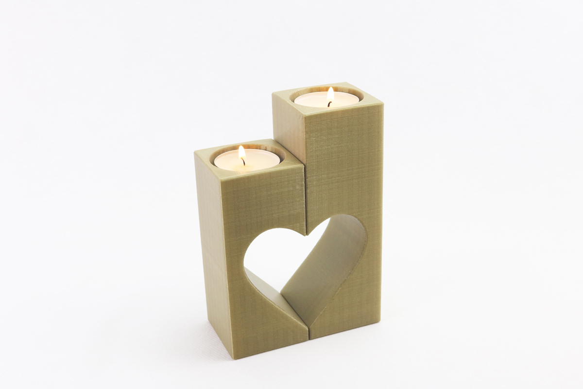 Tealight candle holder square
